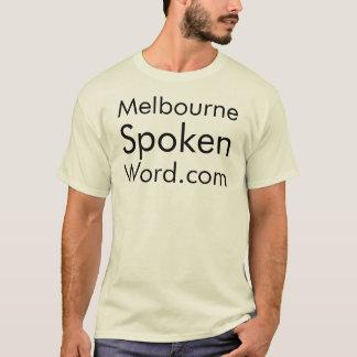 メルボルンによってWord.comの話されるティー Tシャツ