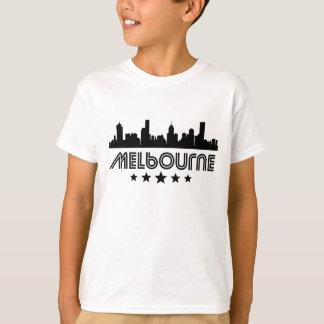 メルボルンのレトロのスカイライン Tシャツ