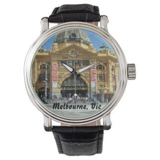メルボルンのflinders stの場所の腕時計 腕時計