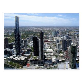 メルボルンオーストラリアのスカイライン ポストカード