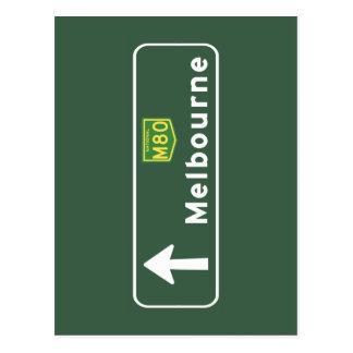 メルボルン、オーストラリアの交通標識 ポストカード
