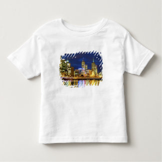 メルボルン、オーストラリア。 2の夜の眺め トドラーTシャツ
