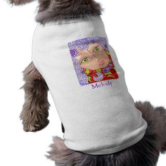 メロディーの薄紫の環境か犬ペットワイシャツ ペット服