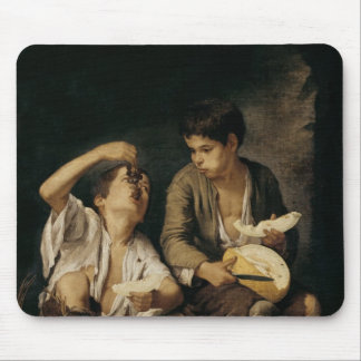 メロンおよびブドウ1645-46年を食べている2人の子供 マウスパッド