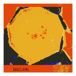 メロンのファインアートのプリントポスター ポスター