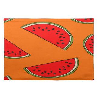 メロンのフルーツパターン ランチョンマット