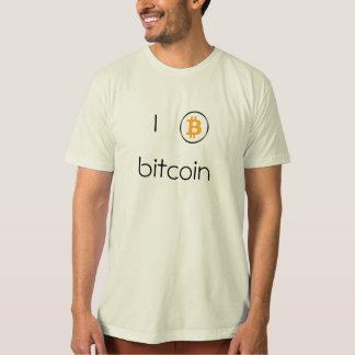 メンズのTシャツのBitcoinのロゴ Tシャツ