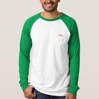 メンズオレンジフェリー野球の長袖 Tシャツ