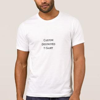 メンズカスタムのカッコいいのスタイリッシュな破壊されたTシャツを作成して下さい Tシャツ