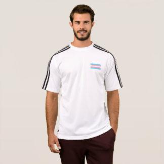 メンズトランス・ジェンダーのプライドの旗のTシャツ Tシャツ