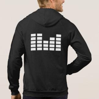 メンズヘッドホーンDjのDJの家音楽edmのフード付きスウェットシャツ パーカ