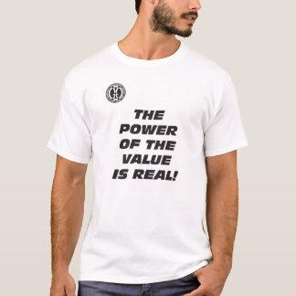 メンズメッセンジャーのTシャツ: 価値の力 Tシャツ