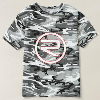 メンズ反射の迷彩柄のTシャツ(Black&White) Tシャツ