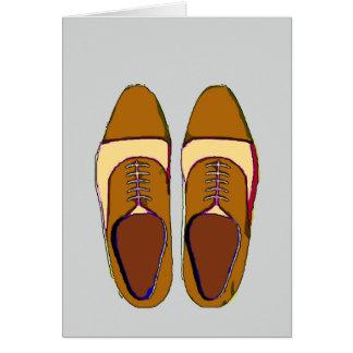 メンズ木びき台の靴 カード