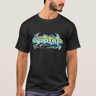 メンズ落書き: ジャスティンStreetwear Tシャツ