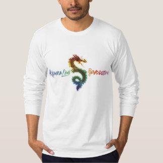 メンズ虹のKundaliniの改革のドラゴンの袖T Tシャツ