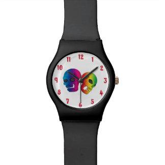 メンズ2つのスカル 腕時計