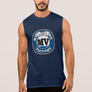 メンズ-メルボルンのブランドタンク(一重項版) 袖なしシャツ