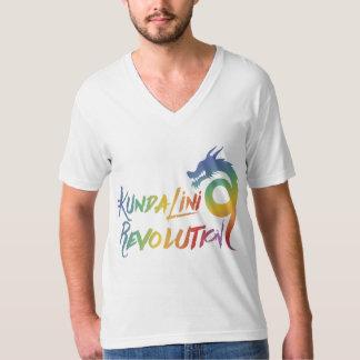 メンズKundaliniの改革の虹のドラゴンのV首T Tシャツ