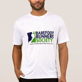 メンズmicrofiberのロゴ+URL Tシャツ