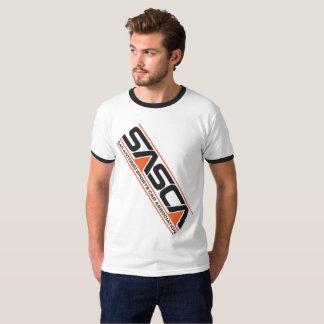 メンズSASCAスラッシュT. Orangeおよび黒 Tシャツ