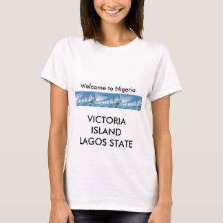 メンズTシャツ-ラゴスへの歓迎 Tシャツ