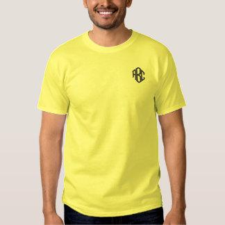 メンズYelowの刺繍されたモノグラム 刺繍入りTシャツ