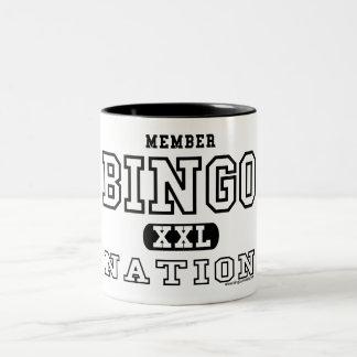 メンバーのビンゴの国家のマグ ツートーンマグカップ