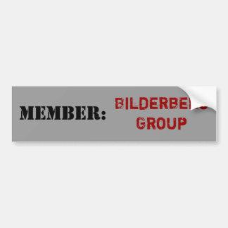 メンバー: Bilderbergのグループのバンパーステッカー バンパーステッカー