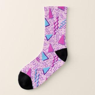 メンフィスのピンクの抽象的なデザイン ソックス
