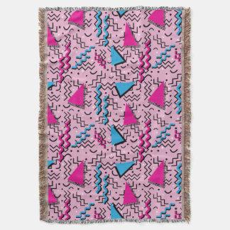 メンフィスのファンキーで騒々しいピンクのデザイン スローブランケット
