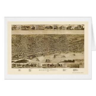 メンフィスのTNのパノラマ式の地図- 1887年 カード