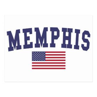 メンフィス米国の旗 ポストカード