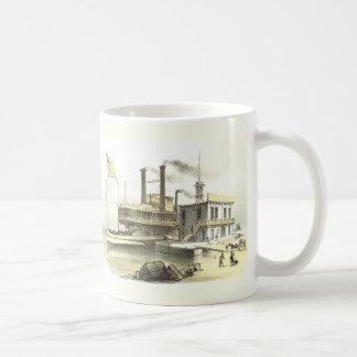 メンフィス1860年ミシシッピーの蒸気船の市 コーヒーマグカップ