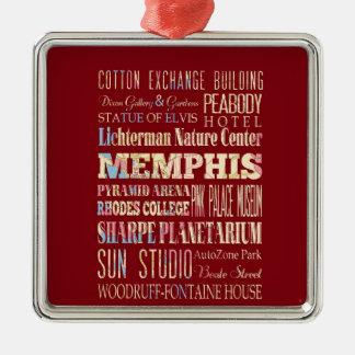 メンフィス、テネシー州の魅力及び有名な場所 メタルオーナメント