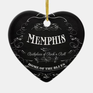 メンフィス、テネシー州-精神の都市 セラミックオーナメント