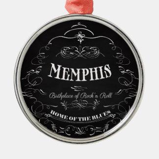 メンフィス、テネシー州-精神の都市 メタルオーナメント
