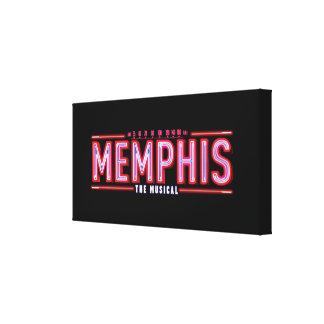 メンフィス-音楽的なロゴ キャンバスプリント