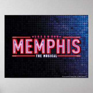 メンフィス-音楽的なロゴ ポスター