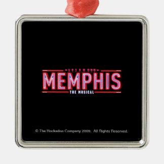メンフィス-音楽的なロゴ メタルオーナメント