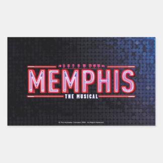 メンフィス-音楽的なロゴ 長方形シール