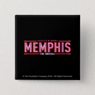 メンフィス-音楽的なロゴ 5.1CM 正方形バッジ