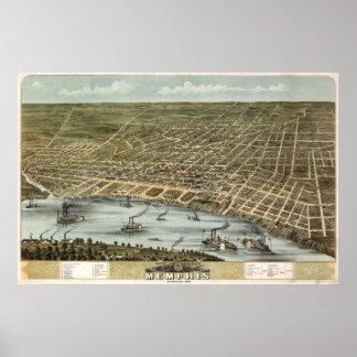 メンフィス(Ruger) - 1870年のBigMapBlog.com ポスター