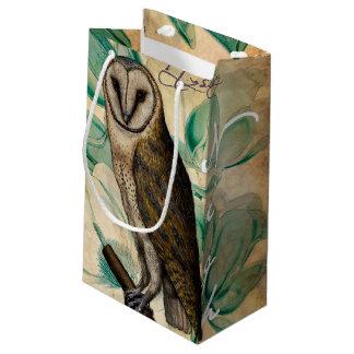 メンフクロウのヴィンテージ スモールペーパーバッグ