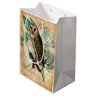 メンフクロウのヴィンテージ ミディアムペーパーバッグ