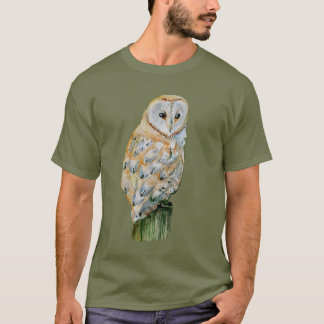 メンフクロウの水彩画 Tシャツ