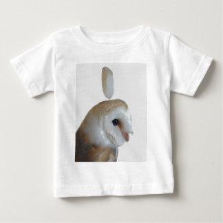 メンフクロウパターン ベビーTシャツ