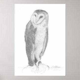 メンフクロウ|の芸術のプリント ポスター