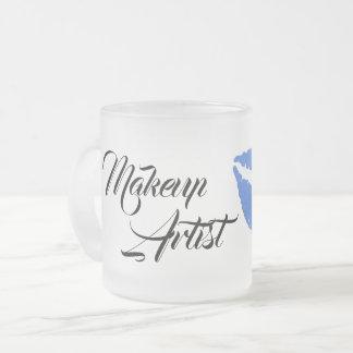 メーキャップアーティストのグラフィックのマグ フロストグラスマグカップ