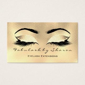 メーキャップアーティストの眉毛の鞭のバラのグリッターのワックスを掛けること 名刺